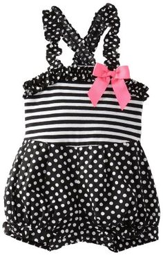 Amazon.com: Rare Editions Baby-Girls Infant Knit Romper: Clothing