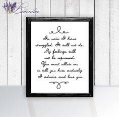 Jane Austen Quote Print Printable home by lavenderdigitalshop, $5.00