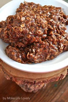 Peanut Butter & Chocolate No Bake Cookies.