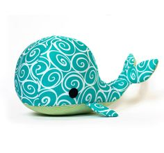 Adorable whale sewing patterns, great craft project. Stuffed animal sewing