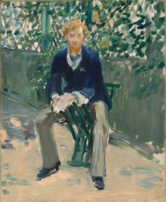 Édouard Manet - George Moore in the Artist's Garden 1879 - East Wing of National Gallery of Art Washington DC - Legion of Honor Fine Arts Museums of San Francisco CA - Intimate Impressionism from the National Gallery of Art Artist Canvas, Canvas Art, Canvas Prints, Art Prints, Monet, Edouard Manet Paintings, Seattle Art Museum, National Gallery Of Art, Post Impressionism