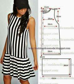 Pretty simple drop waist flounce dress pattern More