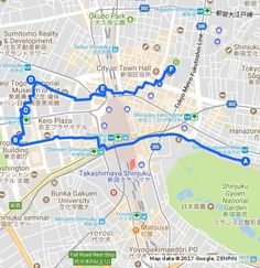 A route that takes you on a tour of Shinjuku's best free attractions.