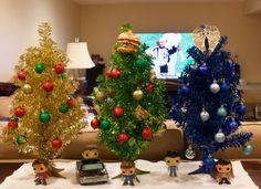 Supernatural Merchandise, Destiel, Christmas Tree, Holiday Decor, Home Decor, Teal Christmas Tree, Decoration Home, Room Decor, Xmas Trees