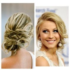 Updo hair front and back