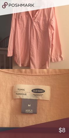 Pink Tunic Worn once during pregnancy!! Awesome fit with a belt! Old Navy Tops Tunics