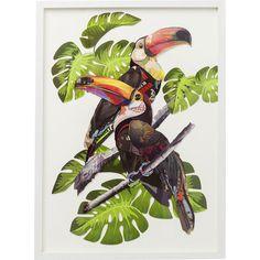 Picture Frame Art Paradise Bird Couple 70x50cm - KARE Design