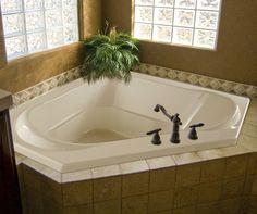 Clarissa Corner Soaking Bath Installed