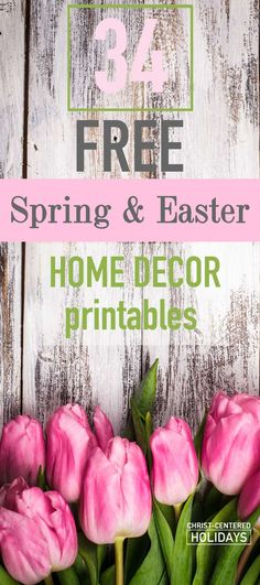 Want free Easter home decor? Learn how to use free Easter wall art printables to create a beautiful seasonal picture frame gallery! There are links to over 30 free Easter home decoration art printables here (including Christian Easter decor)! You'll love this easy way to create cheap DIY Easter home decorations.