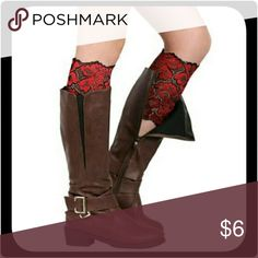 "Stretchy Lace Flowers Boot Cuffs (Red) Beautiful flowers lace boot cuffs for women or girls. Made by soft stretch yarn and lace, comfortable and breathable. It will add charm for your outfit, also show your good fashion taste.  Type: Boot Socks Gender: Women's Size: One Size Material: Stretch Yarn, Lace Style: Fashion, Casual Garment Care: Hand-wash Only Features: Lace, Stretchy, Flowers, Soft Calf Circumference: 11.02"" x 7.09""   I have these in several other colors. Bundle & SAVE! Boutique…"