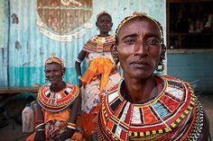 Women from the Samburu tribe, Rift Valley, Northern Kenya, East Africa