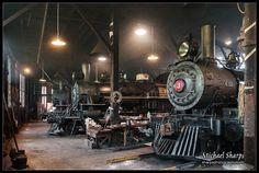 Railtown 1897 ~ Jamestown, CA Steam Railway, Old Trains, Train Engines, Secret Gardens, Round House, Steam Locomotive, Us Travel, Ribbons, Diesel