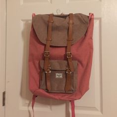 NEVER USED Herschel backpack Little America VERY nice, huge inside, perfect for college students, good travel, padded laptop sleeve, padded straps, padded back, NEVER USED!! great graduation present for those going to college in the fall, front pocket with hidden zipper and key clip, headphone port Herschel Supply Company Bags Backpacks