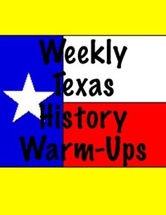 This a great website that has Texas history weekly warm up ideas. They are based of the TEKS and could be a great start to any lesson. It only takes about 5 minutes and can be done individually or whole class to serve as a conversation topic.