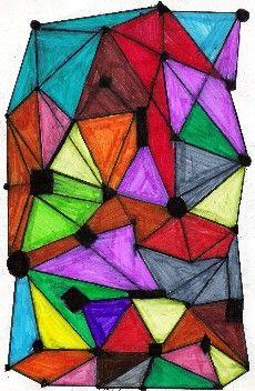 Arts Visuels Ecole PS MS GS CP CE1 CE2 CM1 CM2 : Avec des formes géométriques, Alfred Manessier