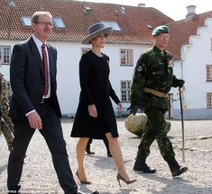 Sombre: Mary was in the town of Aabenraa to mark the 75th anniversary of the invasion of D...