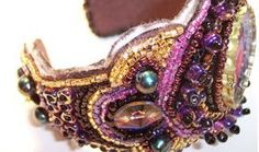 Beading Arts: Bead-embroidered cuff bracelet