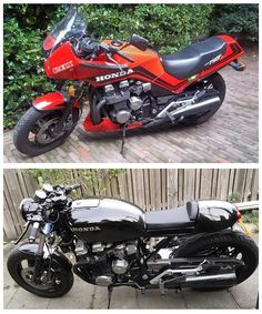 CBX 750f Cafe Racer Befor and after.