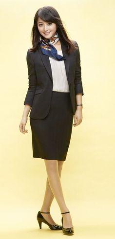 Ad - n♡line by nozomi Japanese Sexy, Office Ladies, Skirt Suit, Work Attire, Girls Wear, Lady, Ideias Fashion, Hot Girls, Sexy Women
