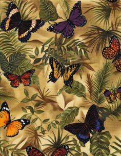 M2815 Tecido Importado para Patchwork  Butterfly