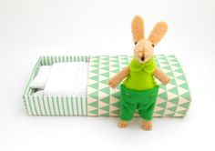 Easter bunny  plush lime emerald green by atelierpompadour on Etsy, €19.00
