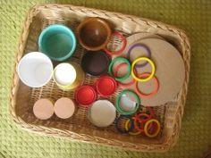 DIY baby sensory treasure baskets