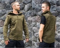 The Spine Jacket Res is a unique multifunctional jacket. With this jacket you can take the arms off and convert it to a vest. This makes it very practical if you are going on travels because you need only one gear. To ensure you that the jacket fits comfortably we put special zippers and an inside
