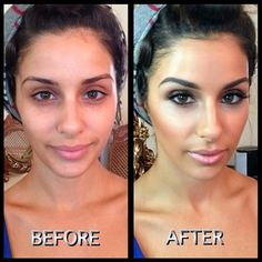 For anyone who doesn't like wearing makeup...this is a great example of makeup enhancing natural beauty.