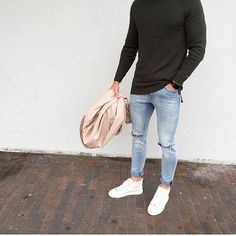 Clean and simple look by @kevinvl #mensfashion_guide