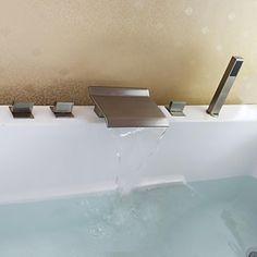 0392e0e21656c9faffa34e208ba76741  nickel bross%C3%A9 bathtub faucets Résultat Supérieur 14 Unique Robinet Bain Douche Cascade Photos 2018 Jdt4