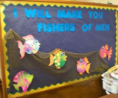 christian school bulletin board for spring Bible Bulletin Boards, Religious Bulletin Boards, Christian Bulletin Boards, Spring Bulletin Boards, Preschool Bulletin Boards, Bullentin Boards, Sunday School Rooms, Sunday School Classroom, Sunday School Activities