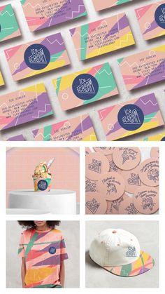 Brand Design for Ice Scream Shop in Bronx, New York, USA - World Brand Design Society : Pastel, bright, delicious sprinkle pop color combo Graphisches Design, Design Logo, Design Poster, Brand Identity Design, Graphic Design Branding, Corporate Design, Game Design, Brand Design, Design Typography