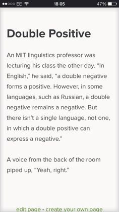 """Yeah, right."" [From George Takei's FB. ] And this comment: Just like the lecturer who stated that ""sugar"" was the only word in the English language to use ""su"" to sound out a ""sh"" sound. Only to have a student ask, ""Are you sure?"". Love students. :)"