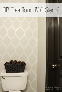 DIY Free Hand Wall Stencil. I want to do this for the drawers in my closet