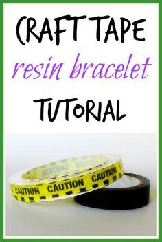 How to make a craft tape resin bangle bracelet - Resin Obsession Diy Resin Crafts, Tape Crafts, Craft Stick Crafts, Craft Ideas, Making Resin Jewellery, Diy Jewelry Making, Resin Jewelry, Bracelet Making, Jewlery