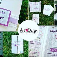 Hermosas invitación de boda personalizado toques de lila con rosa, detalles de liston y encaje.  #queretaro  #artdesign  #artdesign_qro  #dreamingwithmagic  #invitacionesboda