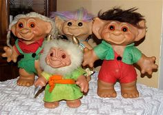 1960's trolls ( I loved these little creatures. I made outfits for all of mine, and beds and homes.