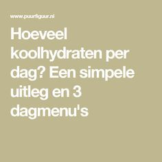 How many carbohydrates a day? A simple explanation and 3 daily menus Dutch How many carb Low Carb Diet Menu, Dukan Diet, Pureed Food Recipes, Real Food Recipes, Edamame, Clean Recipes, Low Carb Recipes, Detox Salad, Go For It