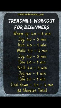 Treadmill workout for beginners 25 minutes