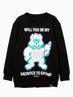 Green Violence Bear Print Sweatshirt - Choies.com