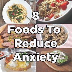 8 Foods That Will Make You Less Anxious. You definitely can't cure anxiety with a healthy diet, but trying to reduce anxiety by eating well doesn't hurt! #anxiety #health #food