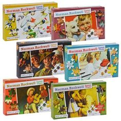 Norman Rockwell Jigsaw Puzzles, 500 pcs. (Set of 6)