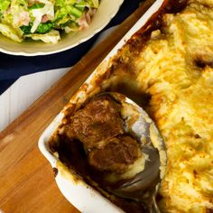 Potato-top Guinness Pie with Savoy Cabbage, Bacon and Hazelnuts