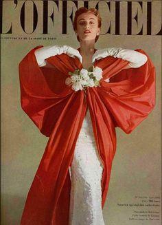 1953 - Balenciaga cape on lOfficiel cover - Stunning!
