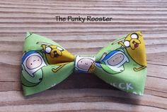 Adventure Bow Tie Clip on Bow Tie Boys Bow Tie by ThePunkyRooster - Adventure time fabric
