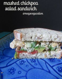 Chickpea Salad Sandwich (#GlutenFree  #Vegan)