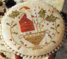 Counted Cross Stitch Pattern, Merry Holly Berries, Christmas Decor, Santa, Holly, Candy Cane, Berries, Brenda Gervais, PATTERN ONLY