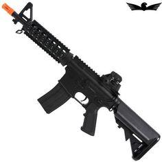 Foto 1 - Rifle De Airsoft Elétrico Cyma M4 Cqb R.i.s Full Metal - Preto