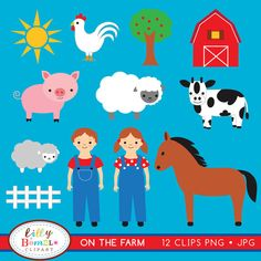 On the Farm Clipart by Lilly Bimble, via Flickr