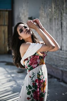 Racquel Dress (Ivoire Flowers) - Karavan Clothing Sheer Fabrics, Summer Dresses, Clothing, Model, Flowers, Fashion, Summer Sundresses, Clothes, Moda